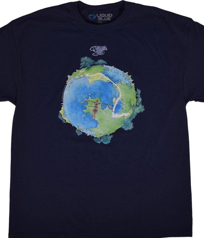 Yes Fragile Navy T-Shirt Tee Liquid Blue