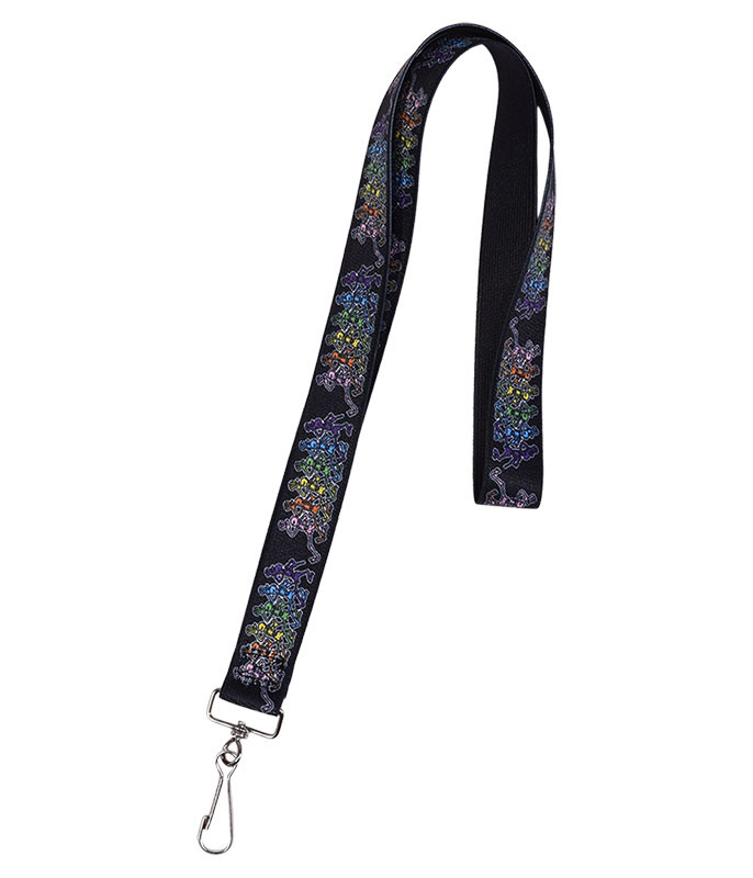 Grateful Dead GD Dancing Skeletons Lanyard