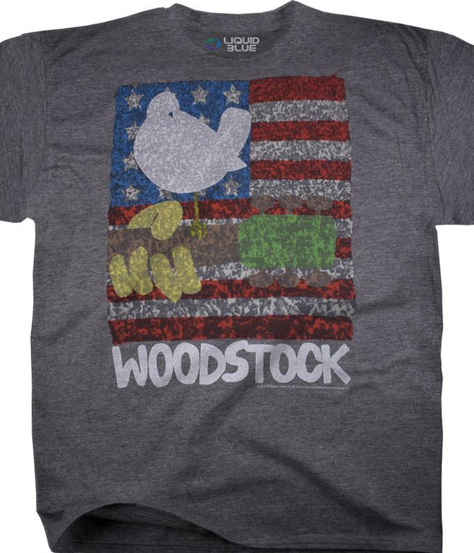 American Woodstock Dark Heather Poly-Cotton T-Shirt