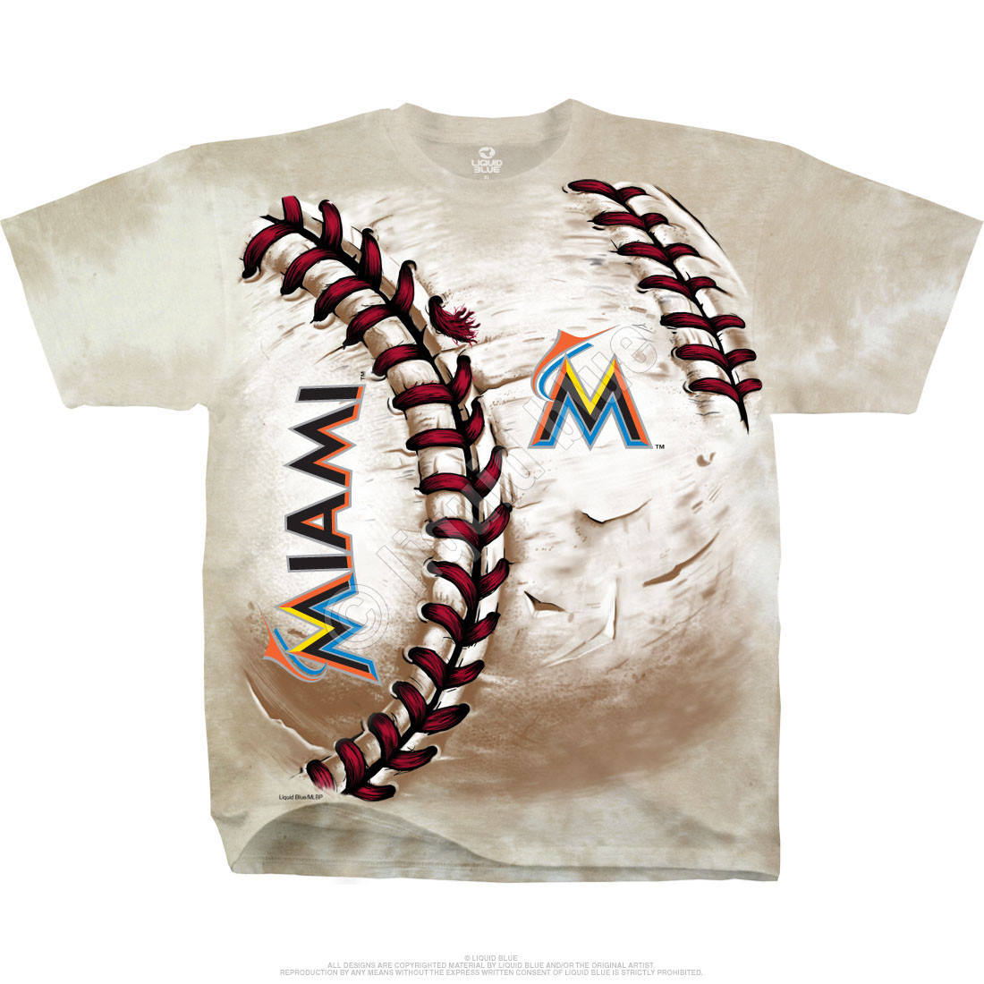 Miami Marlins Hardball Tie-Dye T-Shirt