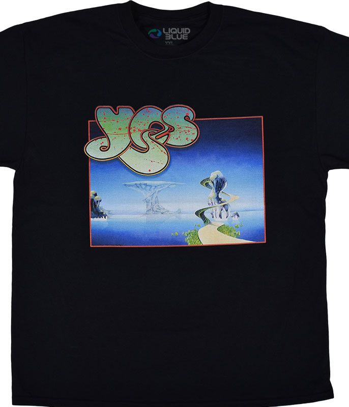 Yessongs Black T-Shirt Tee Liquid Blue