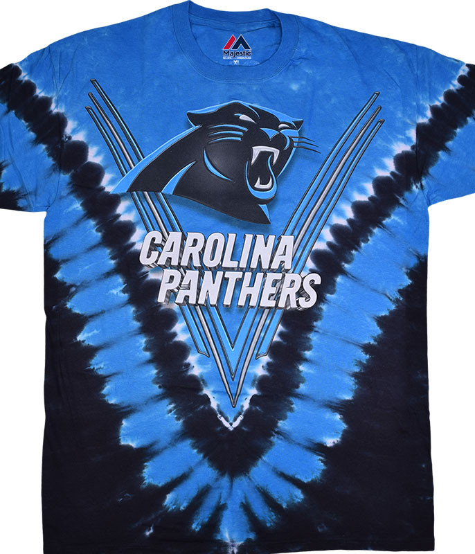 Carolina Panthers V Tie-Dye T-Shirt