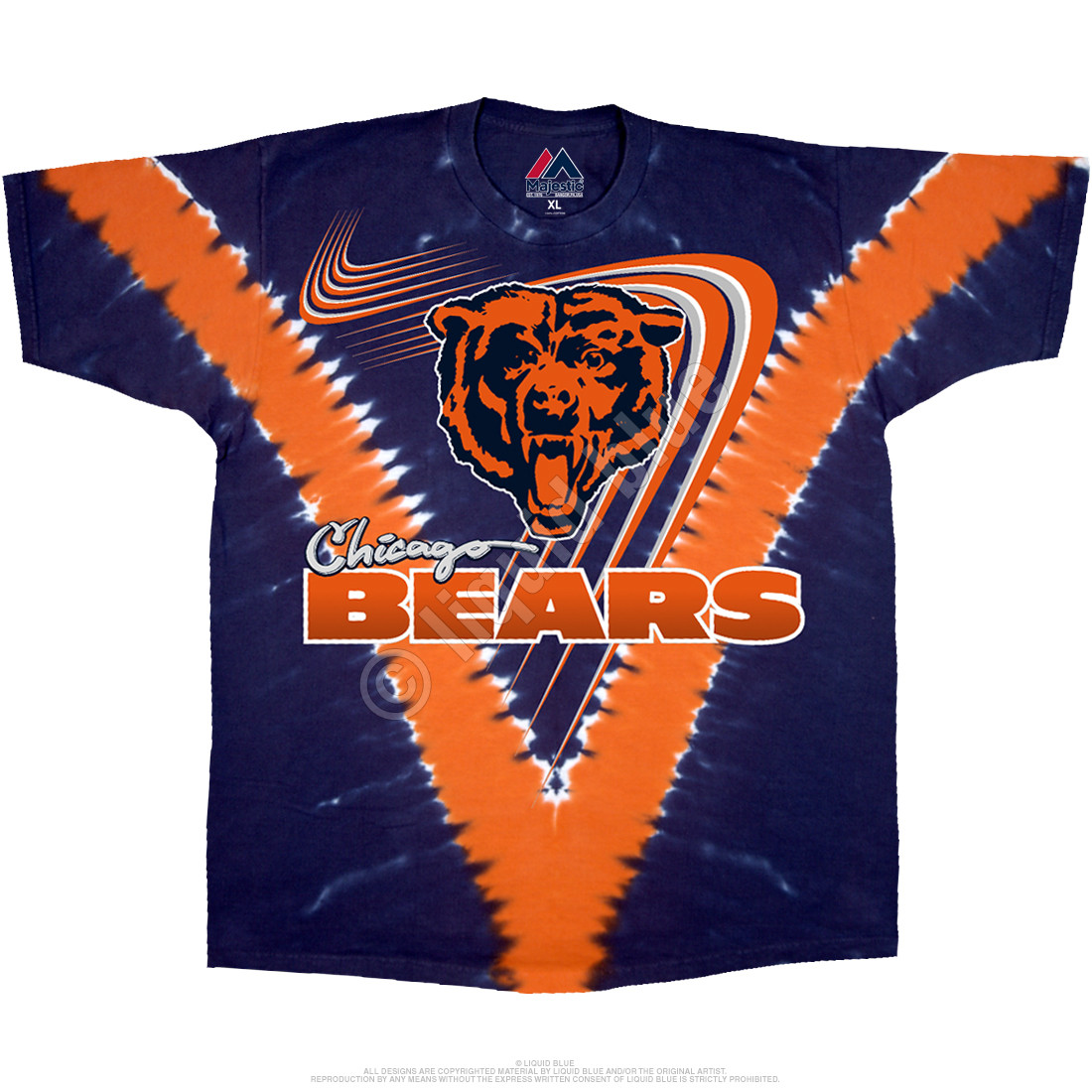 purchase cheap b0831 841dd Chicago Bears V Tie-Dye T-Shirt