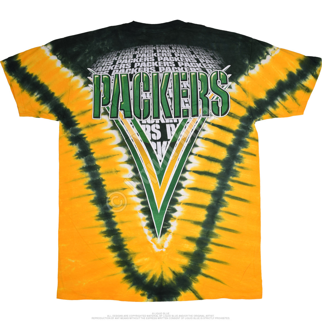 Green Bay Packers V Tie-Dye T-Shirt