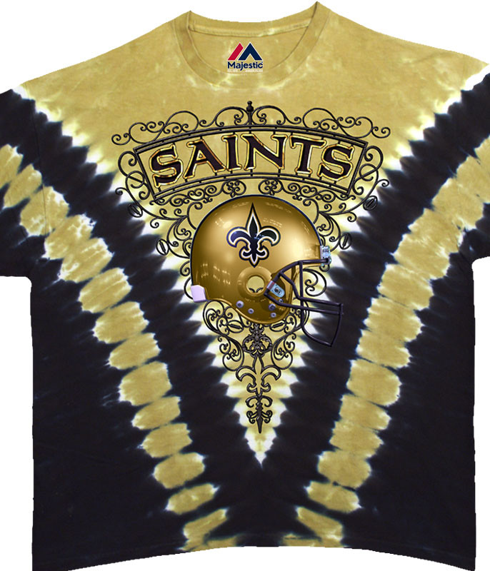 NEW ORLEANS SAINTS V TIE-DYE T-SHIRT