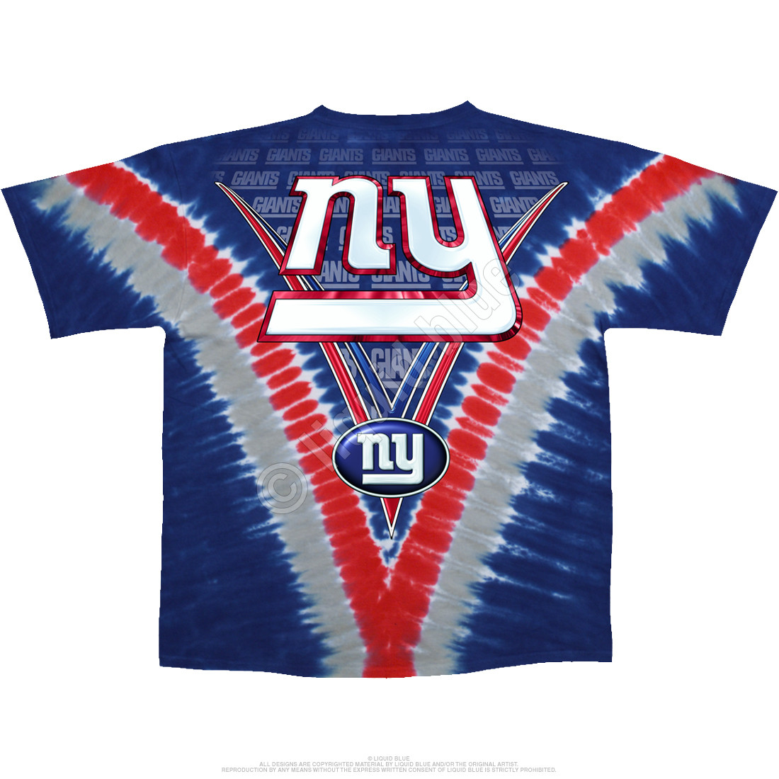 New York Giants V Tie-Dye T-Shirt