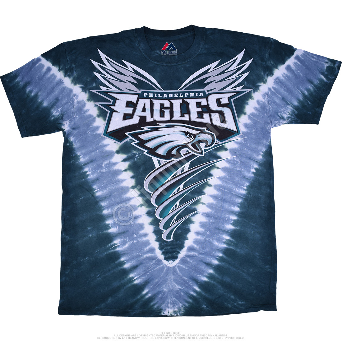 brand new adb38 6fa55 Philadelphia Eagles V Tie-Dye T-Shirt