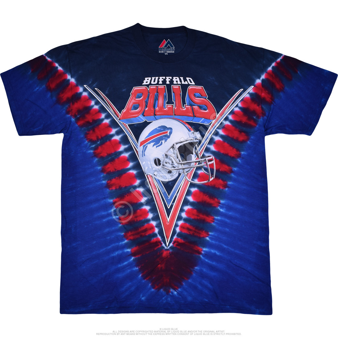 Buffalo Bills V Tie-Dye T-Shirt