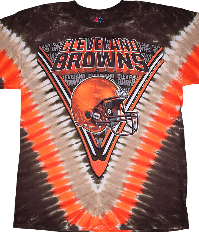 CLEVELAND BROWNS V TIE-DYE T-SHIRT