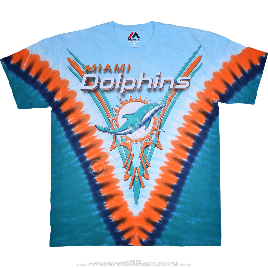 sale retailer 81096 35f9a Miami Dolphins V Tie-Dye T-Shirt