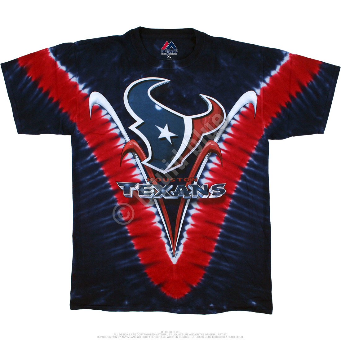 Houston Texans V Tie-Dye T-Shirt