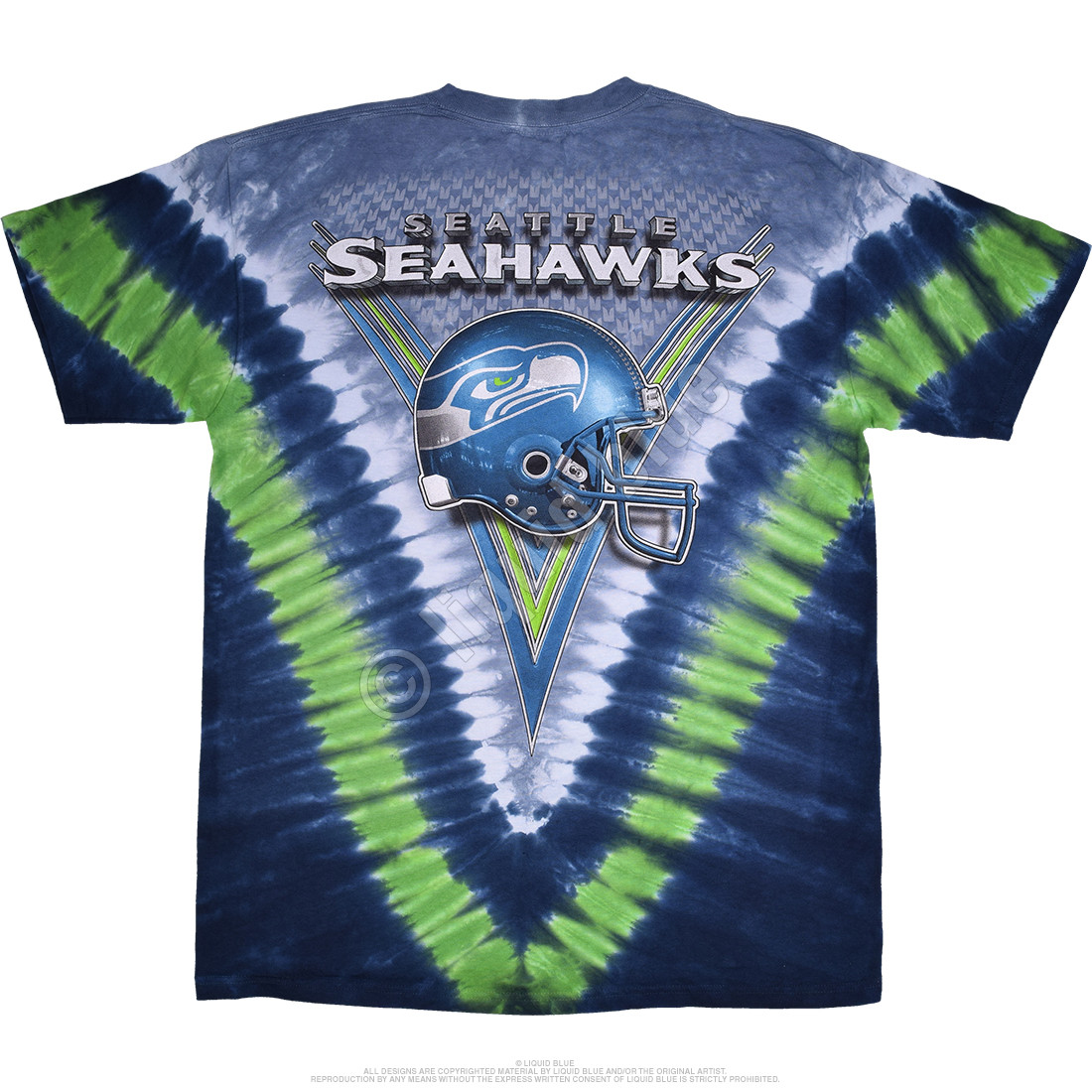 Seattle Seahawks V Tie-Dye T-Shirt
