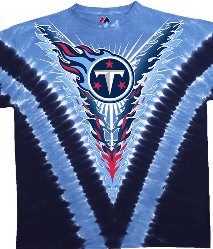 Tennessee Titans V Tie-Dye T-Shirt