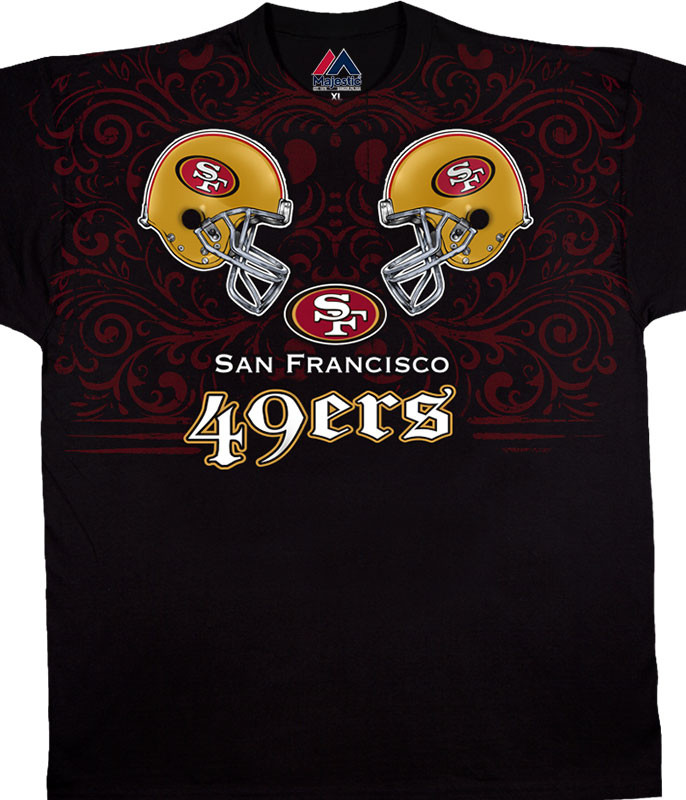 SAN FRANCISCO 49ERS FACE OFF BLACK T-SHIRT