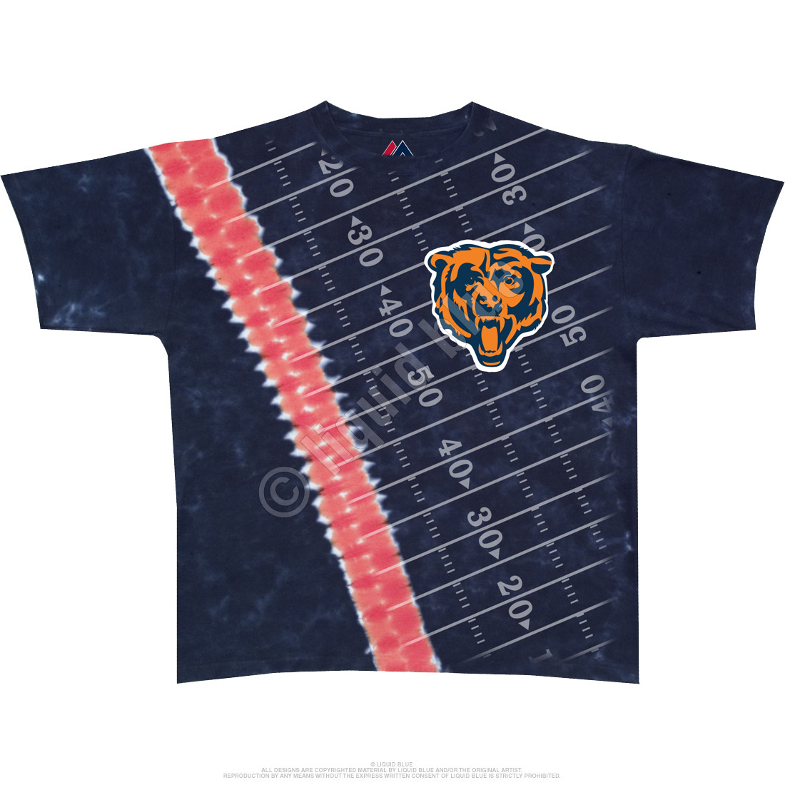Chicago Bears Hash Mark Tie-Dye T-Shirt