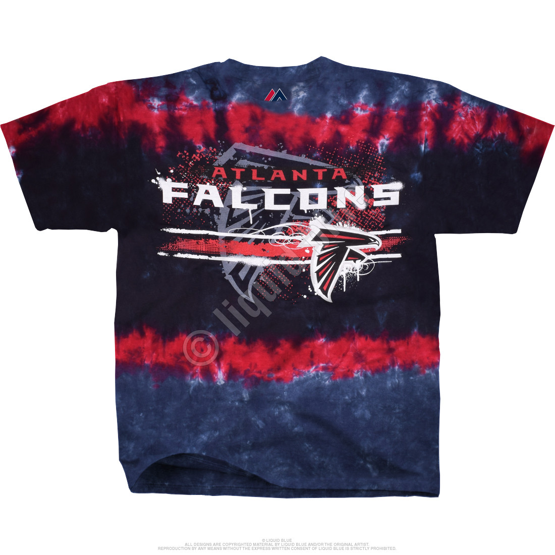 Atlanta Falcons Horizontal Stencil Tie-Dye T-Shirt
