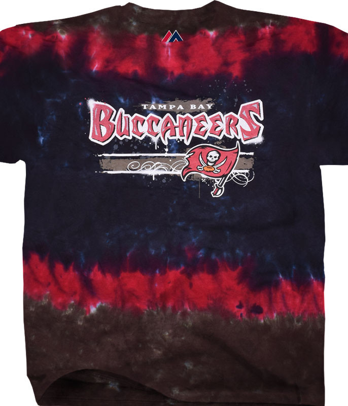 910045fa9 TAMPA BAY BUCCANEERS HORIZONTAL STENCIL TIE-DYE T-SHIRT