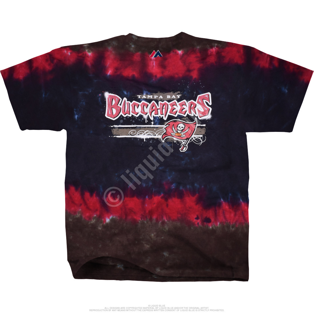 NFL Tampa Bay Buccaneers Horizontal Stencil Tie-Dye T-Shirt Tee ... a86dfd682