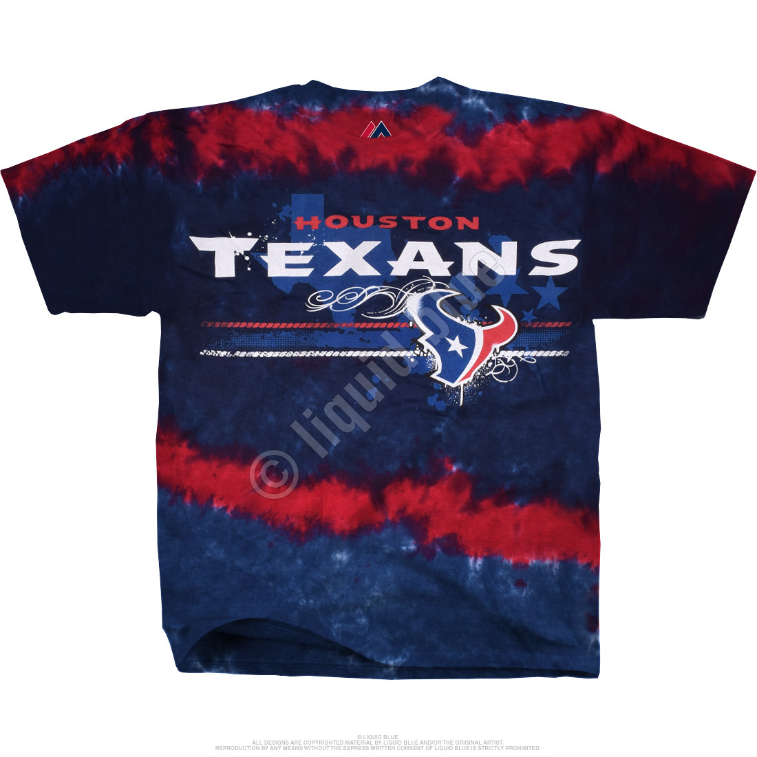 Houston Texans Horizontal Stencil Tie-Dye T-Shirt