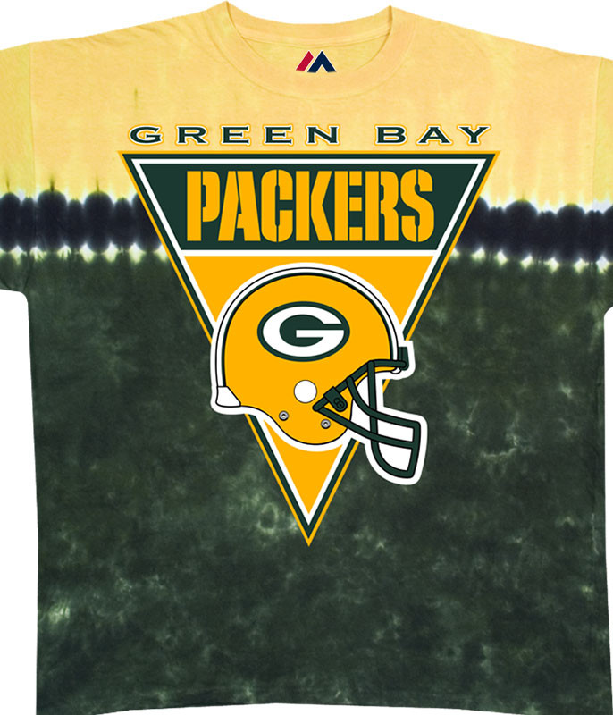 Green Bay Packers Logo Banner Tie-Dye T-Shirt