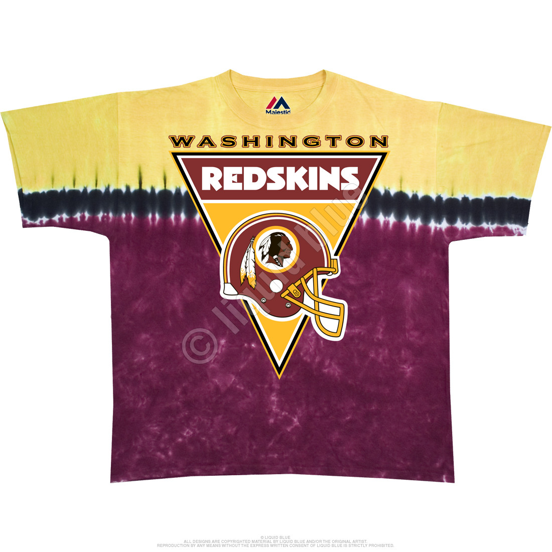 Washington Redskins Logo Banner Tie-Dye T-Shirt