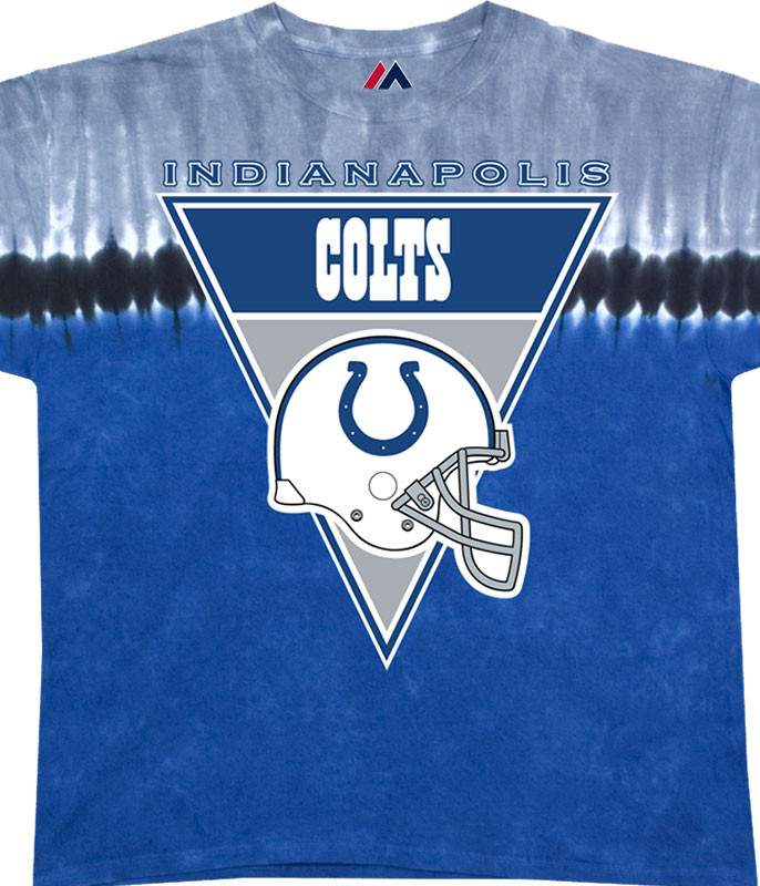 Indianapolis Colts Logo Banner Tie-Dye T-Shirt