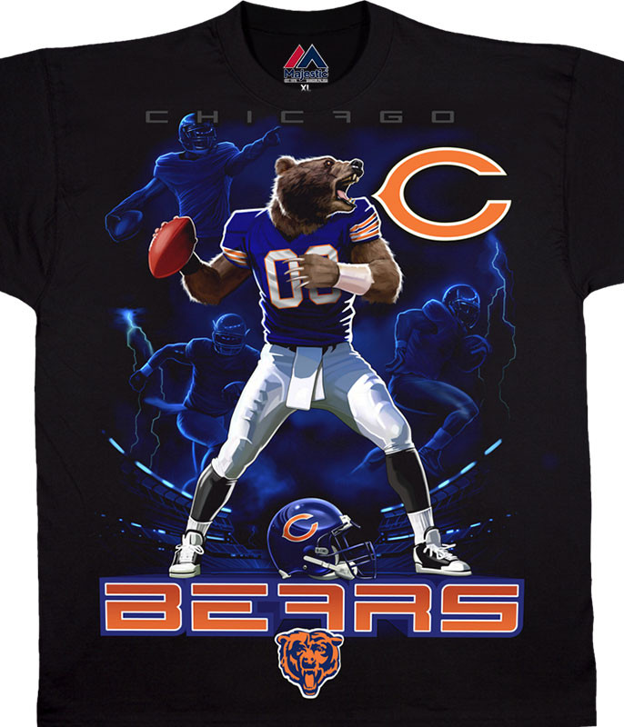 Chicago Bears Quarterback Black T-Shirt