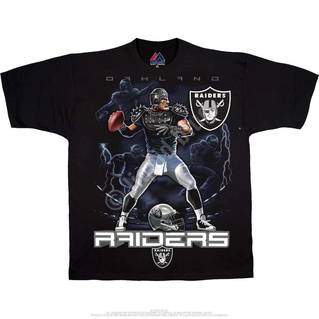 Oakland Raiders Quarterback Black T-Shirt