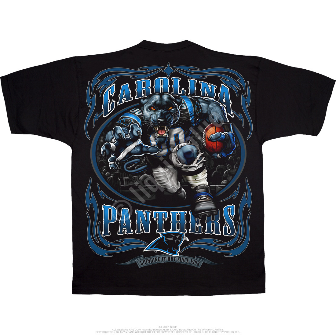 Carolina Panthers Running Back Black T-Shirt