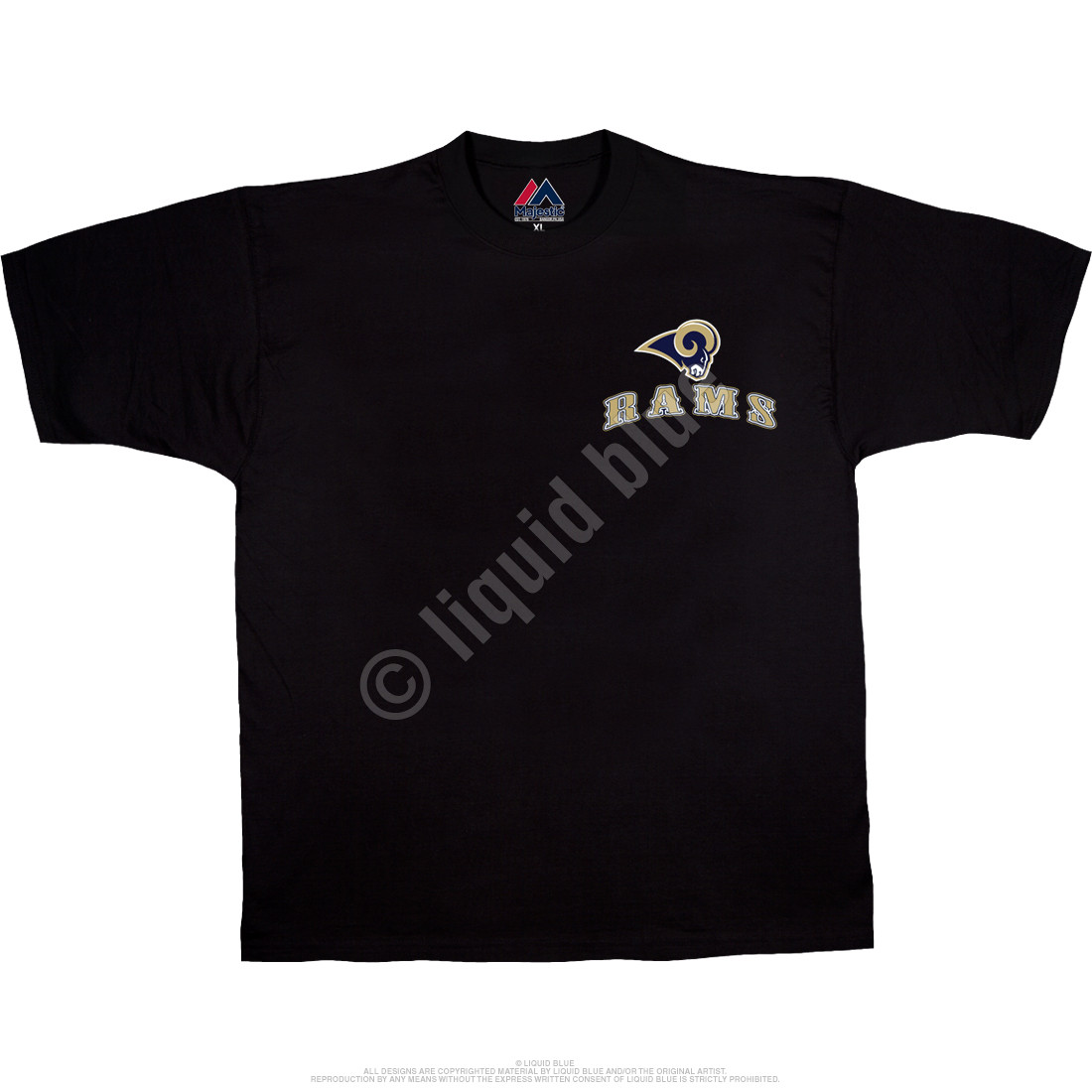 Los Angeles Rams Running Back Black T-Shirt
