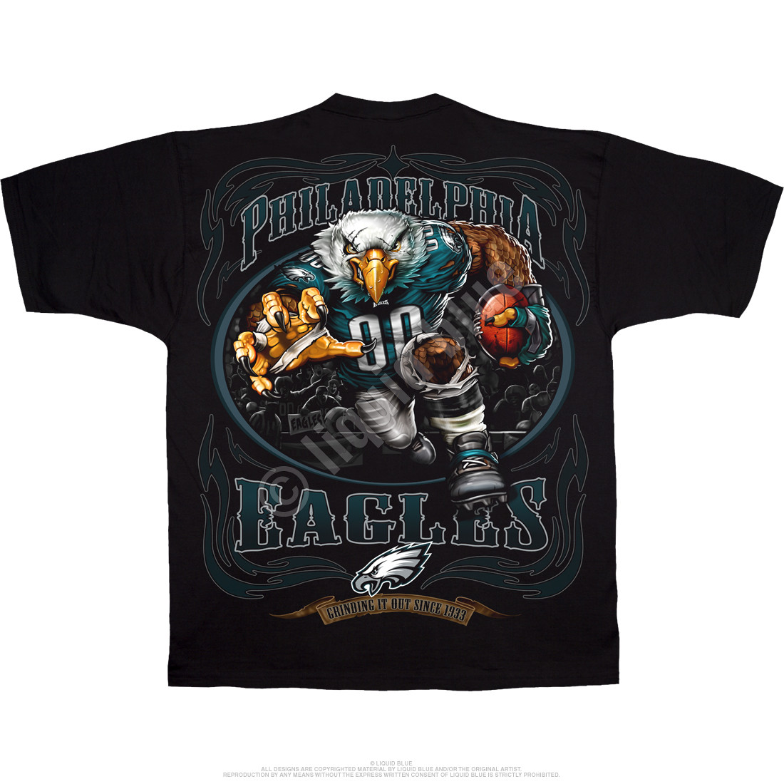 Philadelphia Eagles Running Back Black T-Shirt