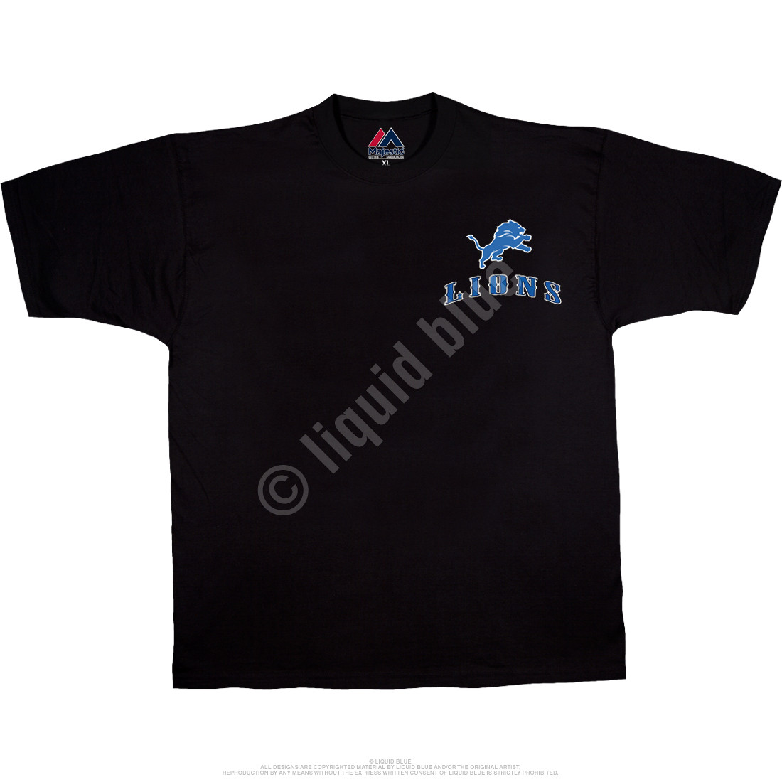 Detroit Lions Running Back Black T-Shirt