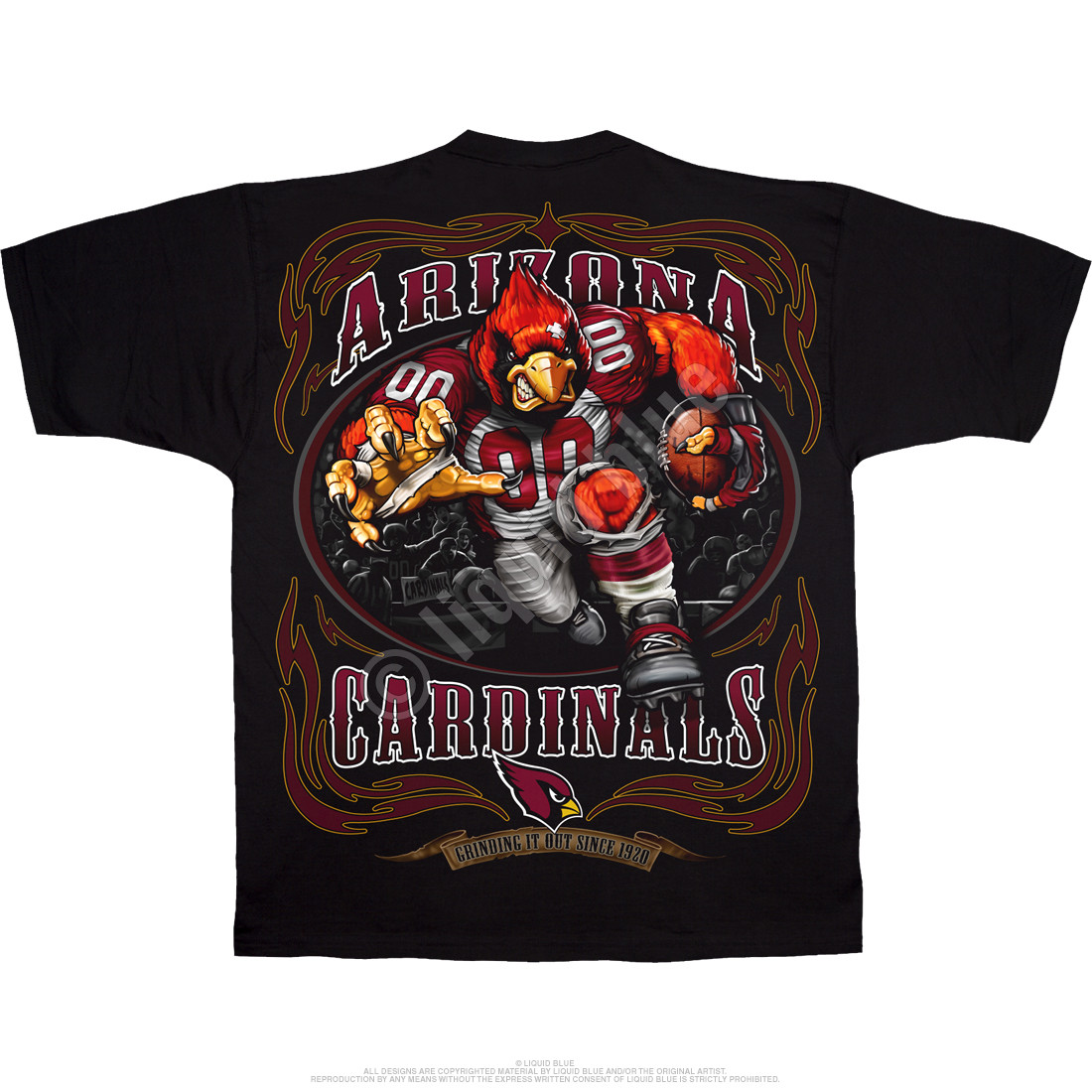 Arizona Cardinals Running Back Black T-Shirt