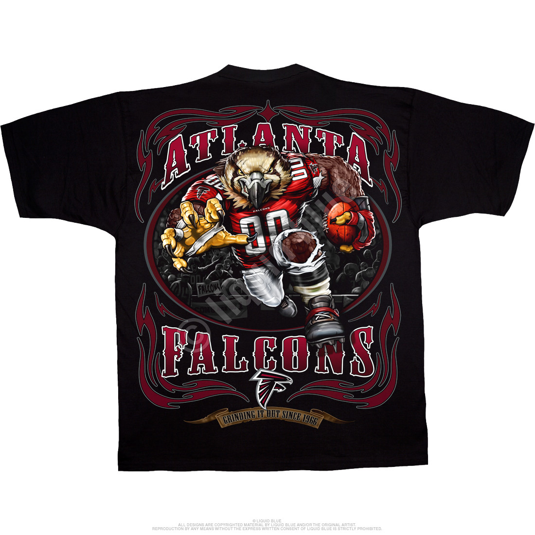 Atlanta Falcons Running Back Black T-Shirt