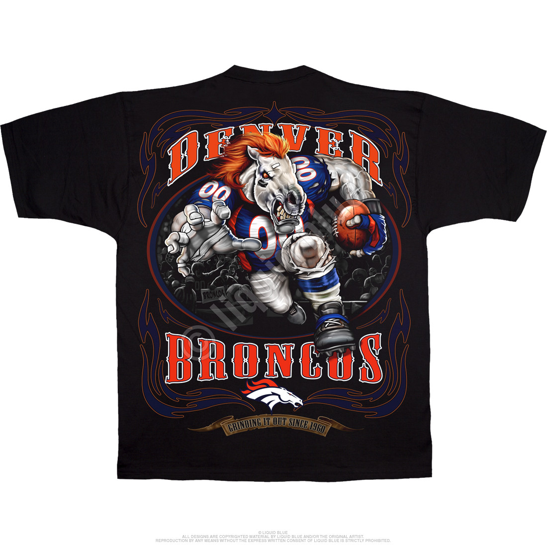 NFL Denver Broncos Running Back Black T