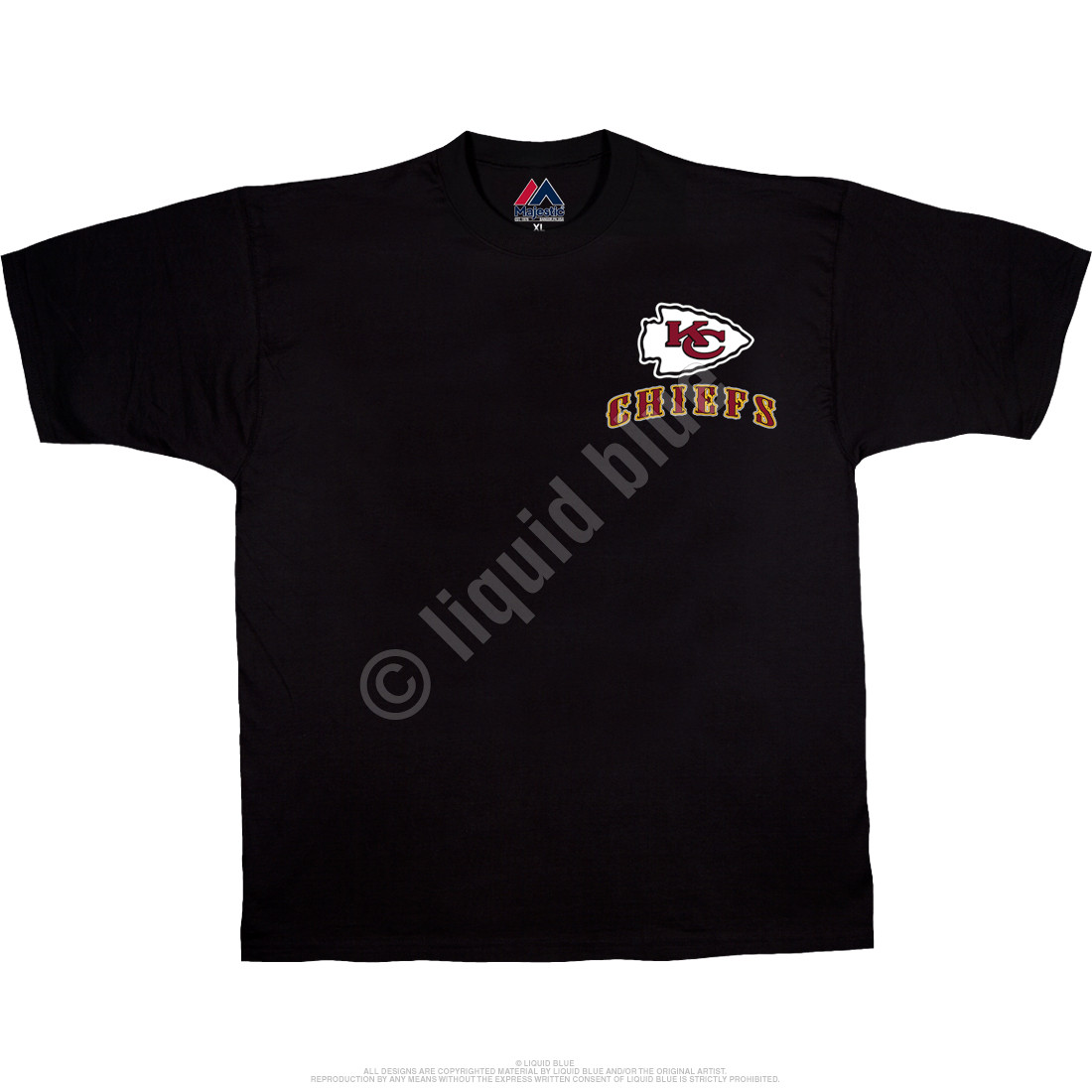 Kansas City Chiefs Running Back Black T-Shirt