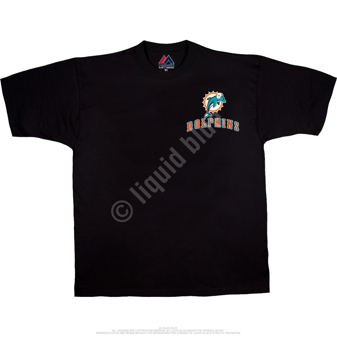 Miami Dolphins Running Back Black T-Shirt