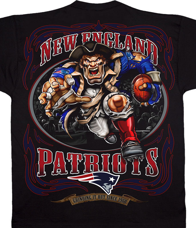 84040c966043b7 NEW ENGLAND PATRIOTS RUNNING BACK BLACK T-SHIRT
