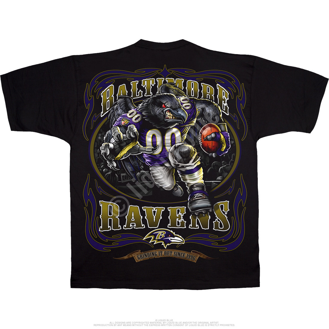 Baltimore Ravens Running Back Black T-Shirt