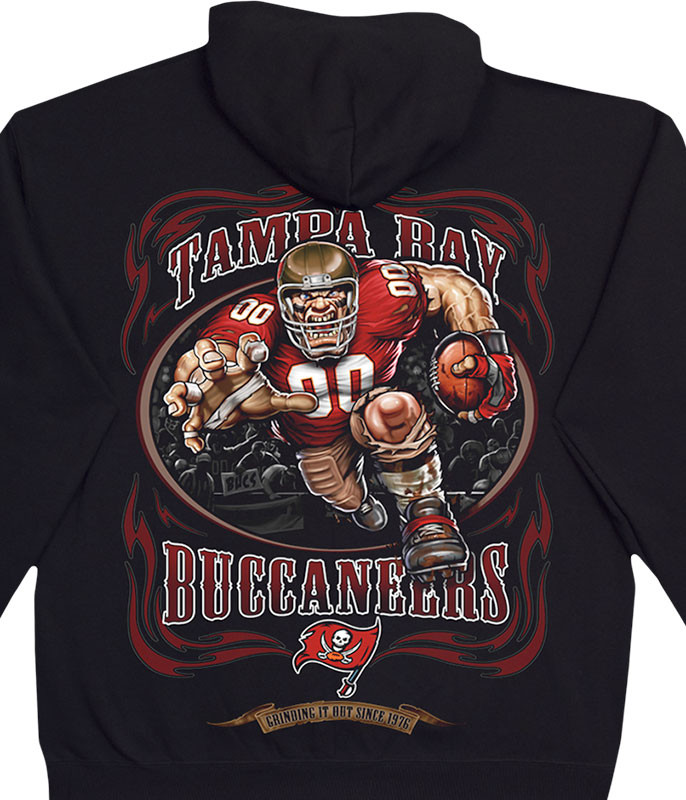 NFL Tampa Bay Buccaneers Running Back Black Hoodie Liquid Blue