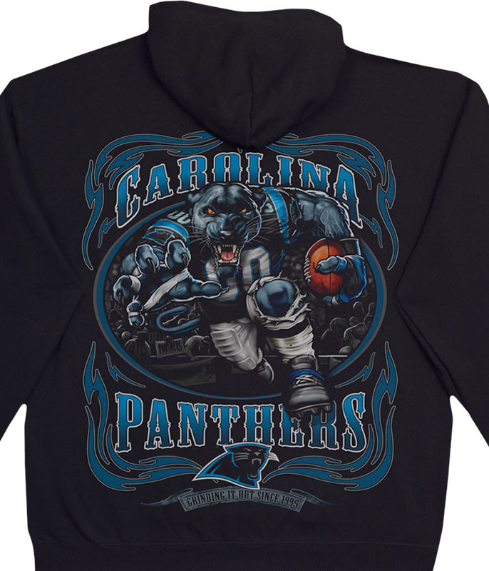 CAROLINA PANTHERS RUNNING BACK BLACK HOODIE