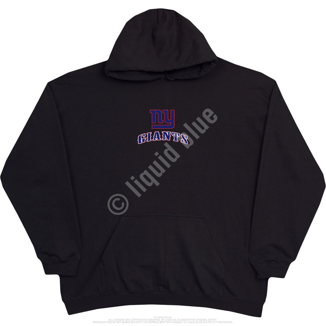 New York Giants Running Back Black Hoodie
