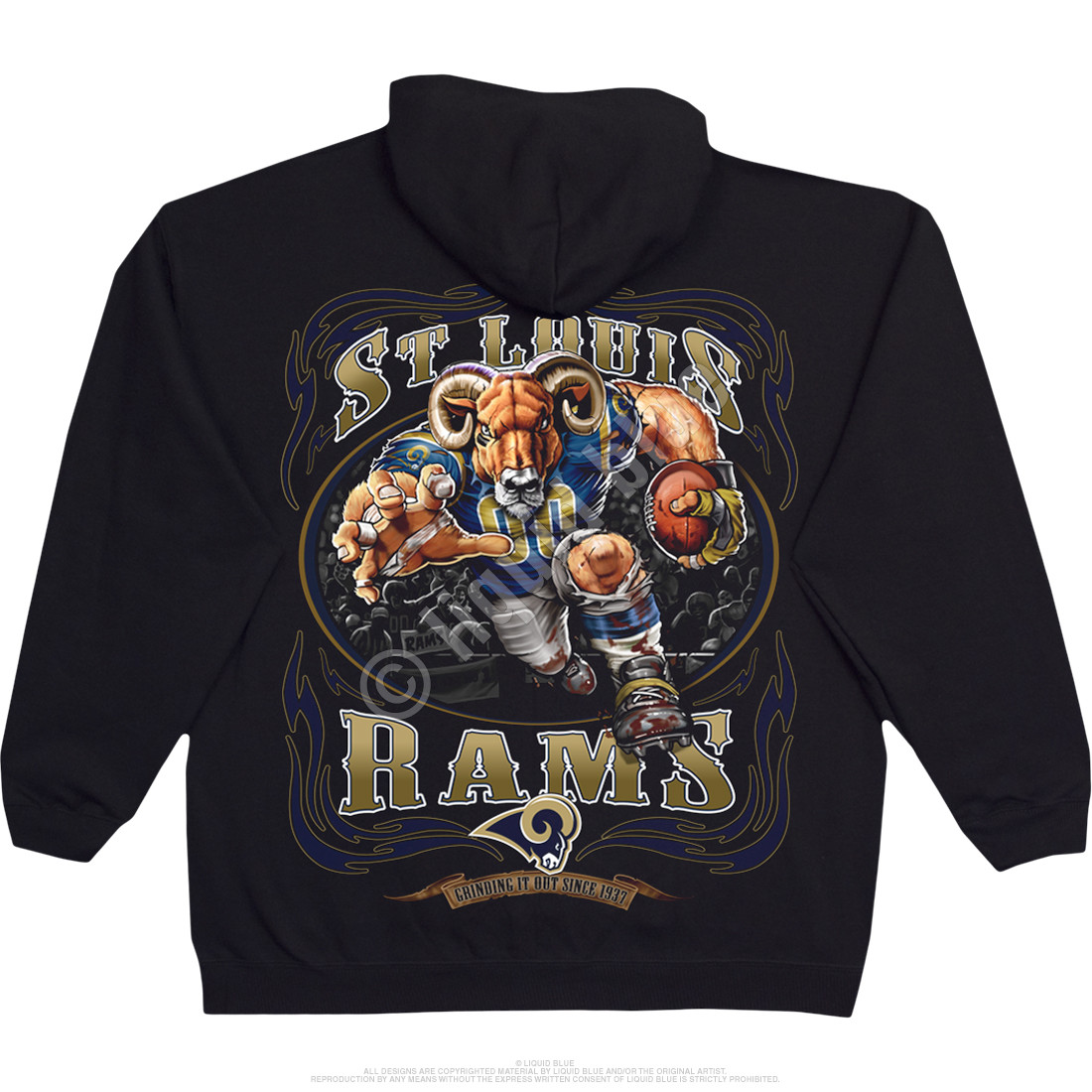 Los Angeles Rams Running Back Black Hoodie