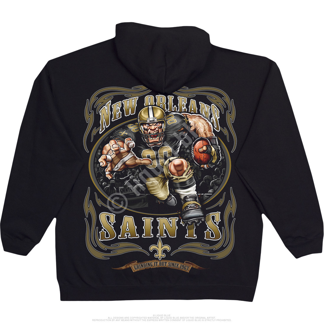 New Orleans Saints Running Back Black Hoodie