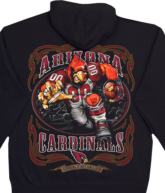 NFL Arizona Cardinals Running Back Black Hoodie Liquid Blue