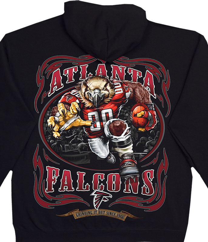 NFL Atlanta Falcons Running Back Black Hoodie Liquid Blue