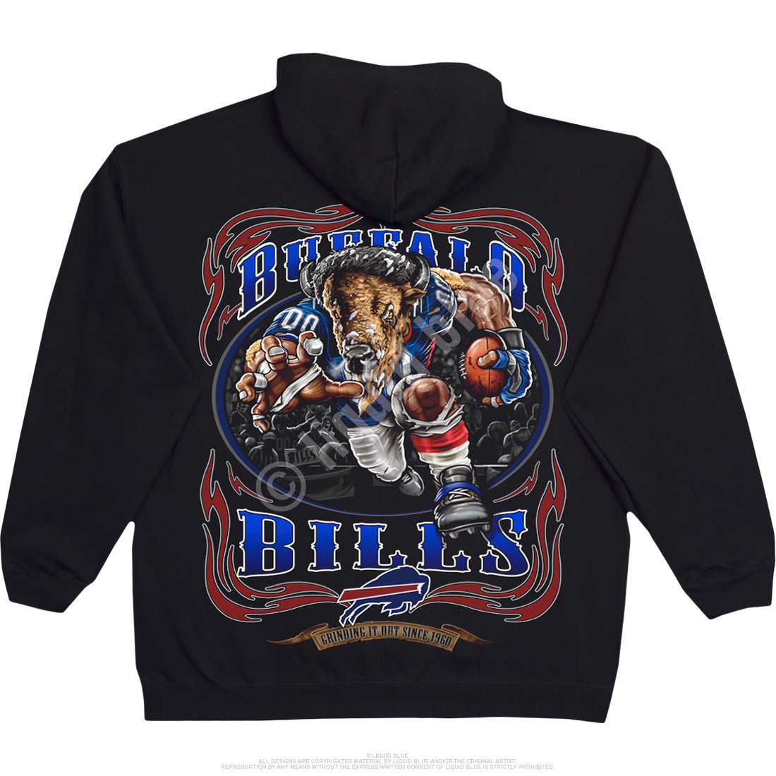 Buffalo Bills Running Back Black Hoodie