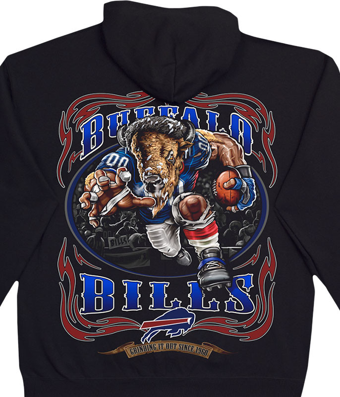 NFL Buffalo Bills Running Back Black Hoodie Liquid Blue