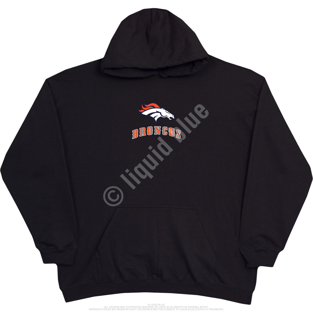 Denver Broncos Running Back Black Hoodie