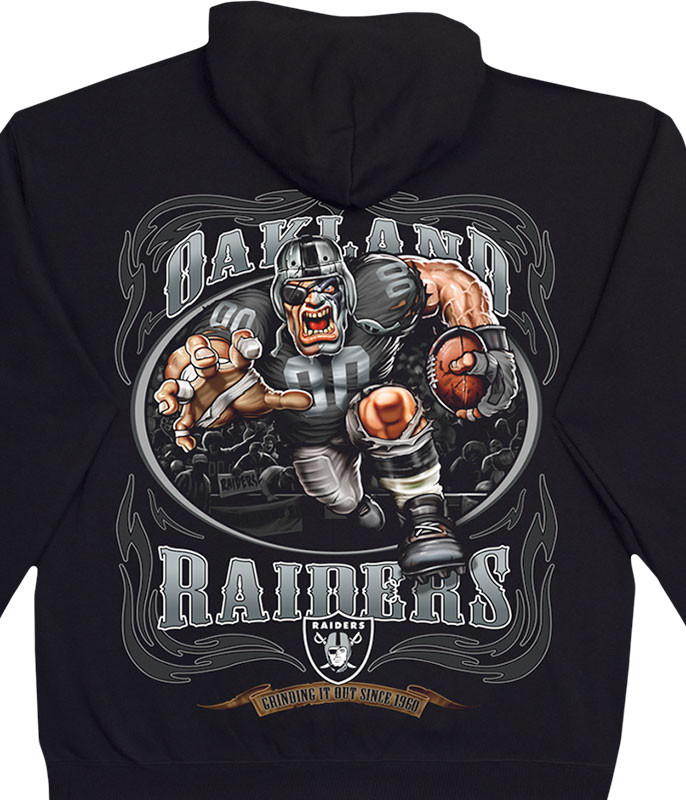 NFL Oakland Raiders Running Back Black Hoodie Liquid Blue